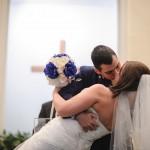 kingston wedding photography kiss