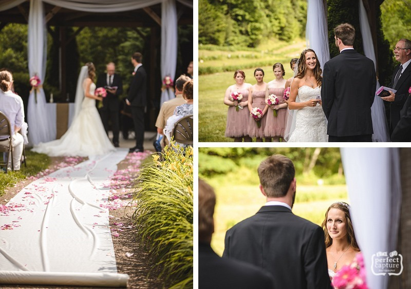 intimate wedding at the lily barn