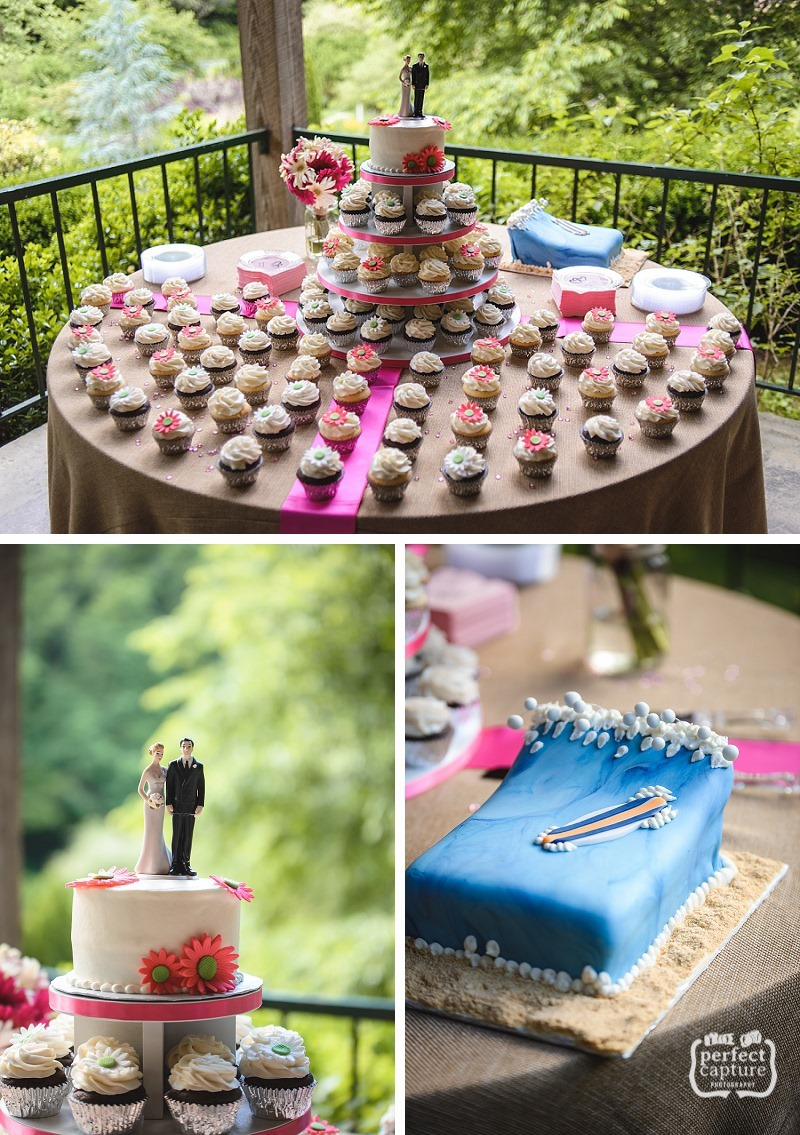 cupcakes and grooms cake