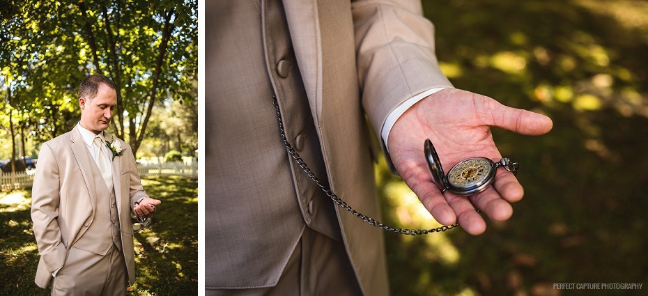 Groom with pocket watch