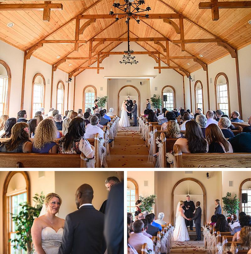 ceremony at the preserve resort chapel