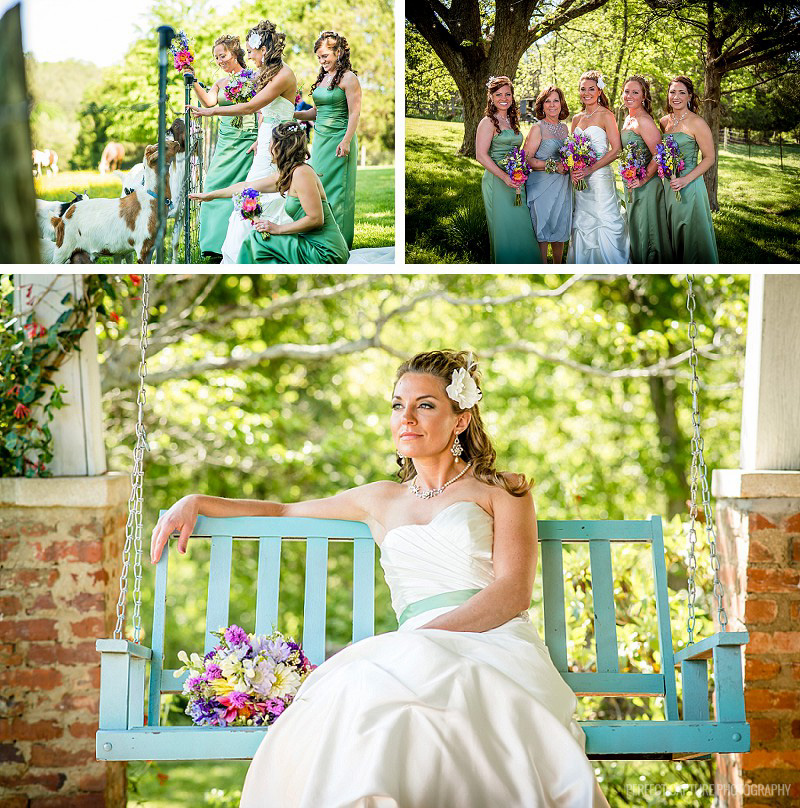 Bride at the barn at high point farms
