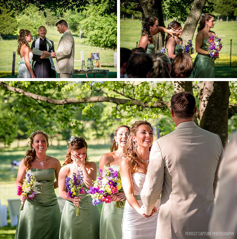 Intimate ceremony at the Barn at High Point Farms