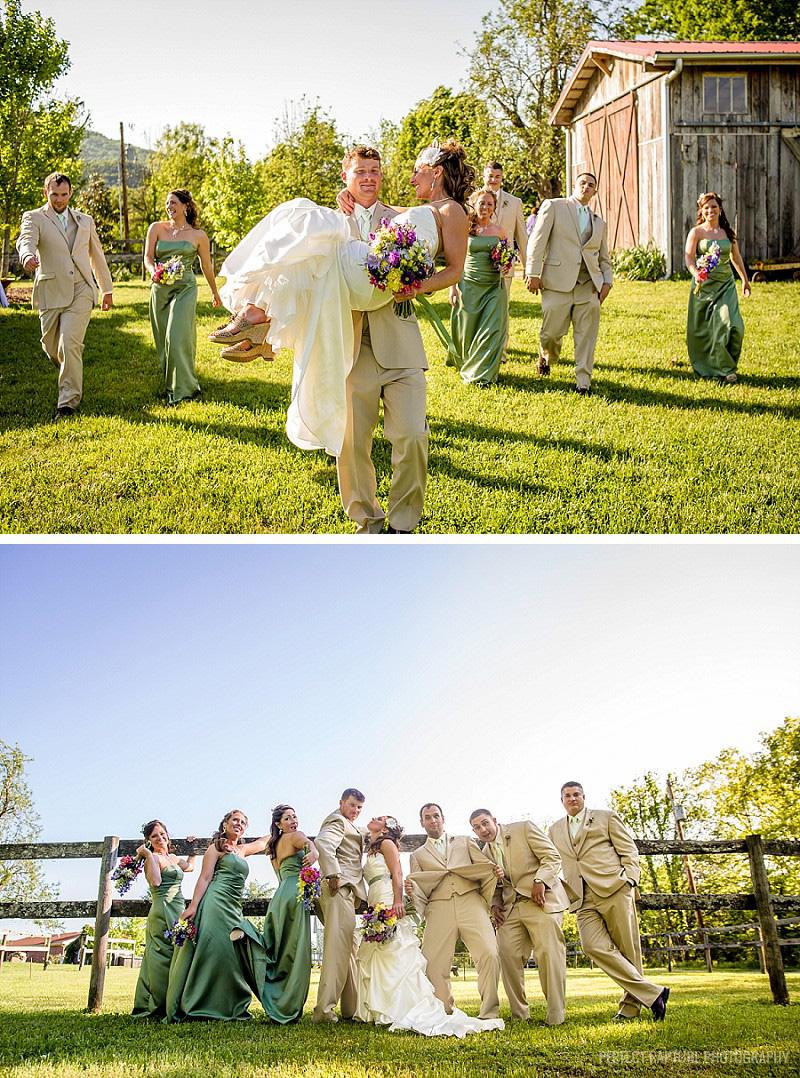 Chattanooga wedding photographers - fun wedding party photos