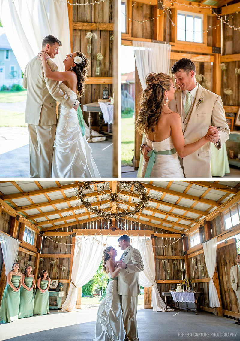 First dance at the Barn at High Point Farms