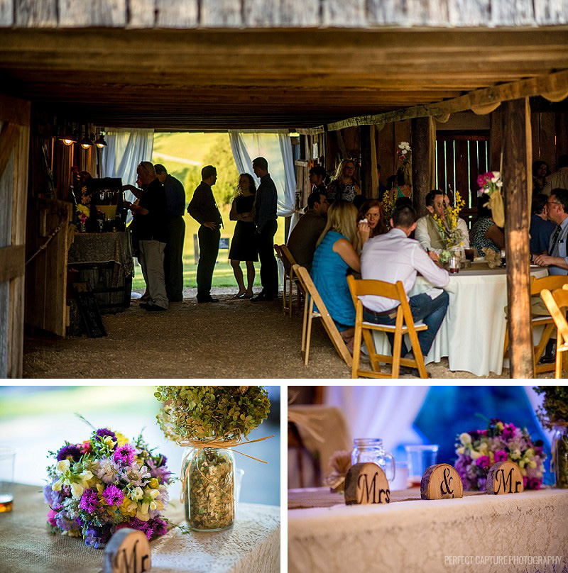 Reception at the Barn at High Point Farms