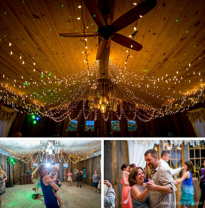 Great reception hall at the Barn at High Point Farms
