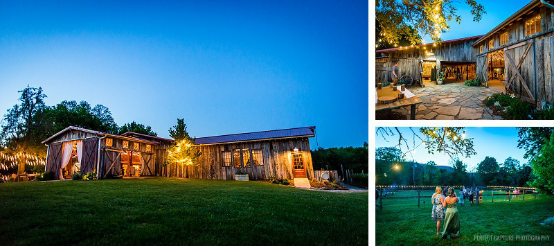 The Barn at High Point Farms at night