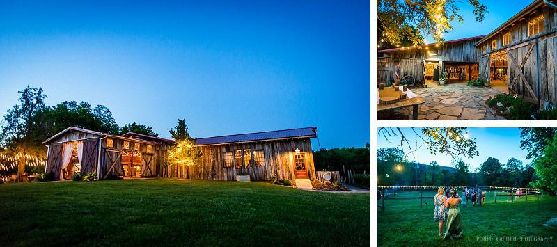 The Barn at High Point Farms at night
