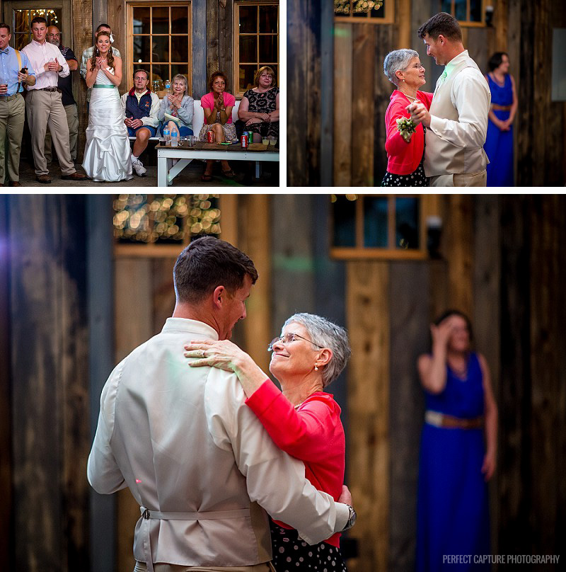 Mother son dance at the Barn at High Point Farms