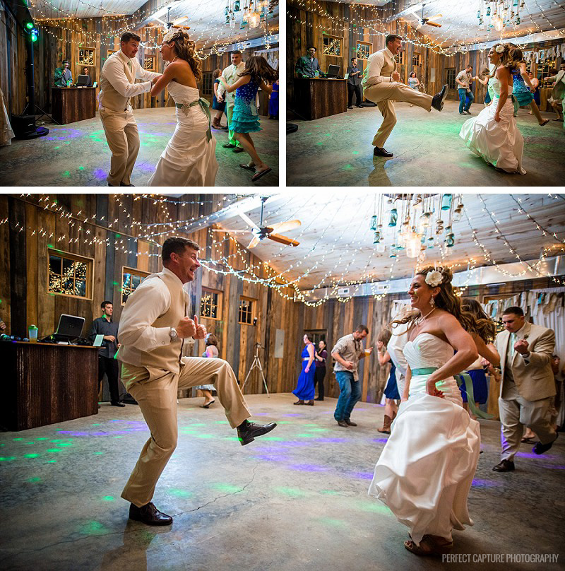 Chattanooga wedding photographers - Great dancing by the bride and groom