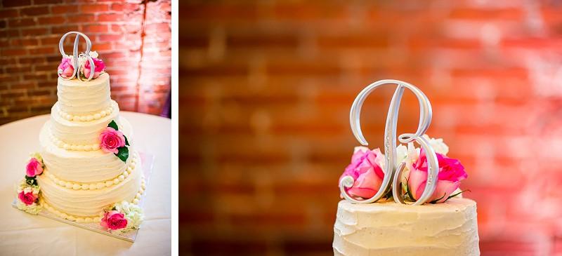 Southern depot wedding cake