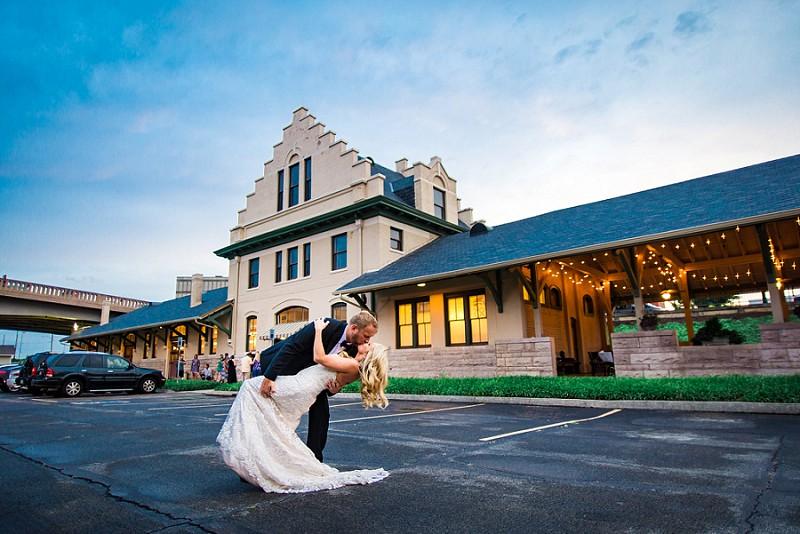 Southern depot wedding
