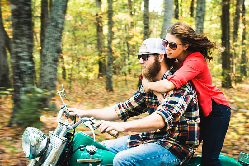 Motorcycle engagement session