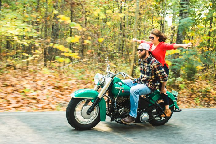 Motorcycle Engagement Session | Sarah and Rusty