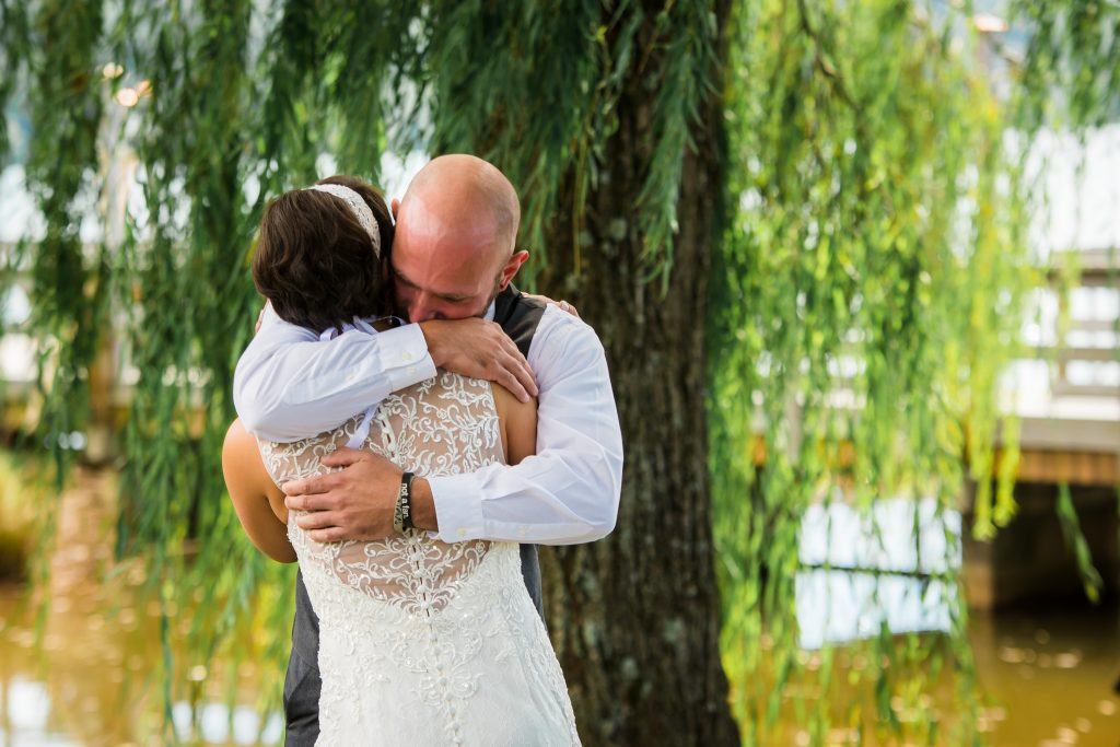 first look knoxville wedding
