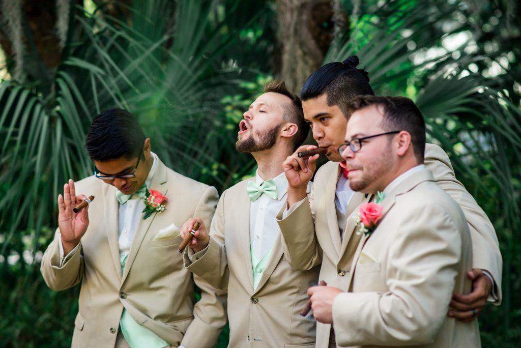 groom and groomsmen cigars
