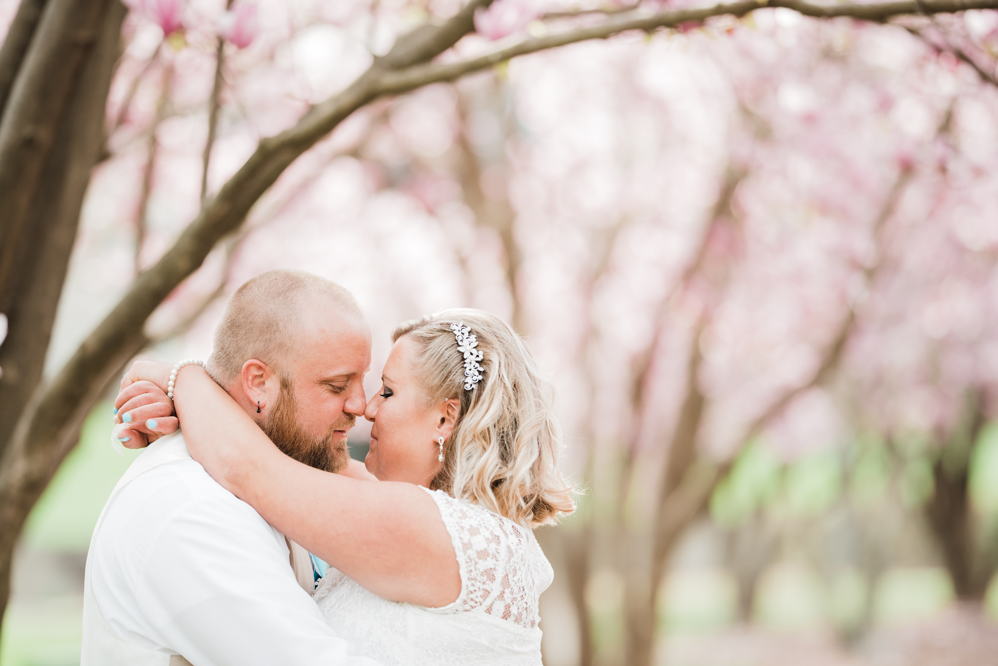 Knoxville Courthouse Wedding cherry blossoms